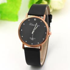 爆款点钻刻度女士皮带手表 光皮女士日韩表厂家直销 时尚潮人