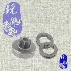 进口STIHL斯蒂尔油锯MS381伐木锯配件一体链轮螺纹齿轮环形链轮