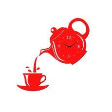 静音壁钟 茶壶墙贴钟 创意DIY挂钟 拼多多亚马逊wish速卖通爆款