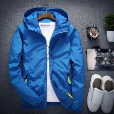 韩版时尚休闲薄款夹克衫8色10码男外套 春秋新款男式加肥加大夹克
