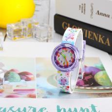 休闲儿童少女日韩卡通学生硅胶小清新原宿软妹可爱卡通手表指针表