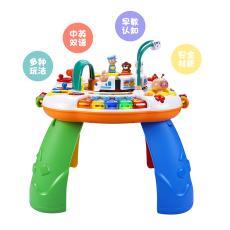現貨發谷雨游戲桌音樂雙語早教益智學習桌多功能兒童玩具一件代發