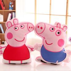小猪抱枕毛绒乔治佩佩猪公仔儿童玩具女孩生日礼物幼儿园用品代发
