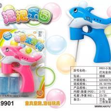 儿童玩具 小海豚全自动灯光音乐泡泡枪9901双瓶泡泡水 厂家直销