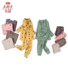寶寶羊絨兩件套一件代發 爆款兒童羊絨內衣套裝A類中小童秋衣秋褲