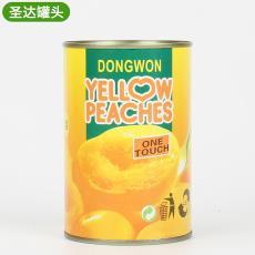 厂家直销脆甜口感黄桃罐头开罐即食糖水黄桃罐头10罐支持批发
