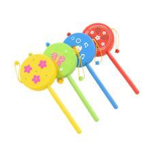 木制撥浪鼓傳統木質波浪鼓手搖鈴嬰幼兒音樂樂器寶寶益智力玩具
