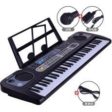 61鍵電子琴 亞馬遜影樓禮品兒童音樂樂器玩具 多功能帶麥克風鋼琴
