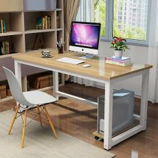職員辦公桌簡易兒童書桌學習桌現代簡約鋼木筆記本電腦桌臺式直銷