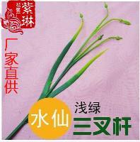 絲網花材料批發仿真花配件塑料花半成品三叉水仙花桿水仙花花枝