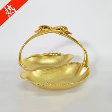 北歐風創意金色干果盤合金家居金屬盤婚慶禮品裝飾擺件可定制