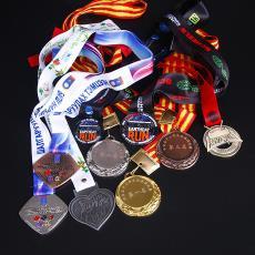 創意金屬獎牌廠家定做金屬獎牌學校運動會獎牌馬拉松紀念獎章定制