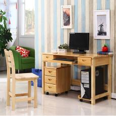 厂家直销简易实木桌书桌家用桌电脑桌组合台式学习桌写字桌办公桌