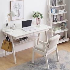 北歐簡約風格實木書桌家用辦公桌書房寫字桌現代簡易電腦桌小戶型