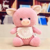 廠家批發星座豬公仔十二星座豬豬毛絨玩具抓機娃娃婚慶拋灑禮物