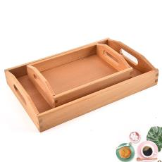 厂家热销日式木质托盘水果托盘下午茶点心托盘酒店餐盘蛋糕盘
