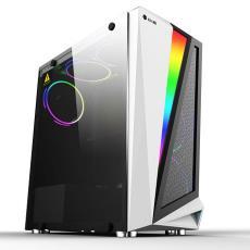 骑士机箱 ATX钢化玻璃侧板RGB发光电脑大机箱 台式机全侧透主机箱