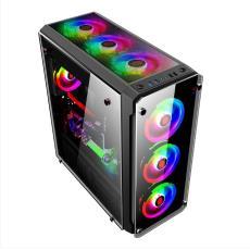 钛晶机箱 双路主板E-ATX玻璃侧透游戏水冷机箱 台式机电脑主机箱
