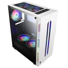 积速6机箱 ATX侧透下置电源办公家用水冷机箱 台式机电脑主机箱