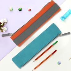 簡約便攜文具盒松緊繩鉛筆袋定制 ebay貨源批發反絨皮辦公小筆袋