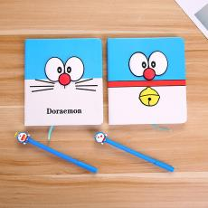 精美卡通藍嘟嘟筆記本L012-2藍胖子記事本日記本男女生生日禮物
