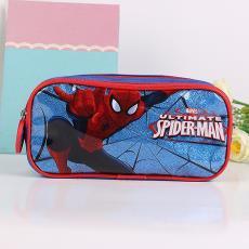 閃亮雙拉學生筆袋 批發 廠家直銷  卡通蜘蛛人