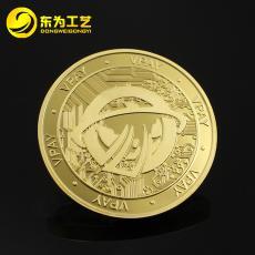 鍍金鍍銀紀念幣定制 同學會創意紀念章定做 公司慶典純銀紀念幣
