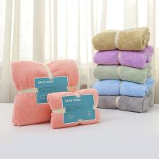 爆款出口日本跨境廠家批發超細纖維浴巾毛巾套裝70*140一件代發