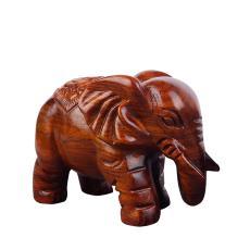 花梨木雕实木家居大象摆件客厅摆件装饰品木质日常送礼大象雕刻动