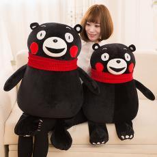 新款熊本熊毛绒玩具公仔新款日本黑熊玩偶儿童创意布娃娃抱枕