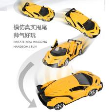 厂家直销儿童音速无线遥控车仿真轿车带灯光可开关门五通电动玩具