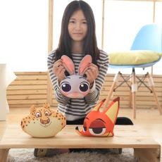 粒子玩偶 车载竹炭公仔定制 疯狂动物城新款创意狐狸兔子头像公仔
