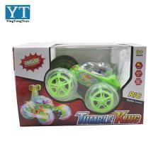 翻斗车大号电动遥控车带灯光音乐遥控特技车儿童玩具翻滚车特技车