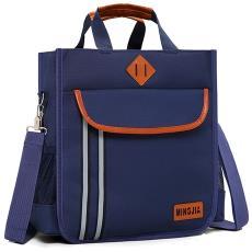 小学生补习袋背包手提袋帆布书袋男女儿童补课包单肩书包斜挎包