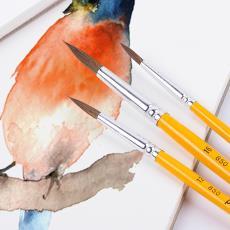 成人繪畫圓頭水粉筆初學者丙烯顏料畫筆 貝碧歐馬毛水彩畫筆套裝
