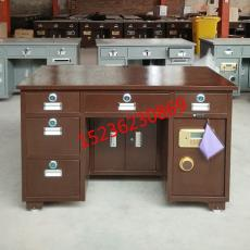 鋼制保險桌電子帶保險柜的辦公桌投幣收銀保險桌財務辦公桌電腦