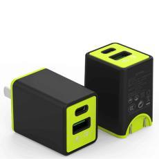 京东新款 18W充电头Type-C双输出快速充电器中美 PD18W兼容QC3.0