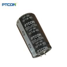 250v1200uf全新鵬泰廠價批發牛角鋁電解電容器供發燒音頻功放電源