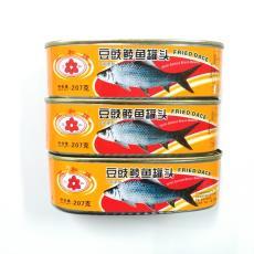 三和牌豆豉鲮鱼罐头207g水产鱼肉零食即食海鲜广东特产送饭下餐