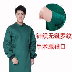 针织无缝罗纹袖口脚口手术衣服全棉耐高温墨绿隔离服医疗颜色可定