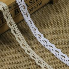 编织蕾丝花边服装服饰辅料DIY 爆款1.1厘米小狗牙棉线花边织带