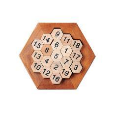 鲁班锁系列玩具数字蜂窝成人益智玩具数字拼盘横竖斜相加等于38