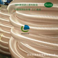进口原料制造 供应耐磨钢丝软管 高铁动车吸污管 PU透明钢丝软管