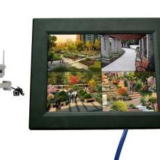 10.4寸触屏显示车载监控录像一体机大型工业设备安全操作监控录像