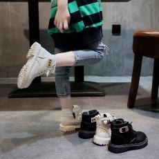 一件代发儿童马丁靴2019秋冬新款英伦风女童靴子潮中大童短靴小童