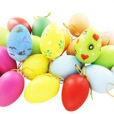 彩繪雞蛋 兒童手繪玩具復活節幼兒園DIY裝飾掛飾 仿真彩色雞蛋殼