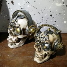 个性骷髅头树脂摆件 酒吧咖啡厅摆设骷颅装饰品 万圣节头骨模型