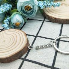 钥匙扣挂饰挂件 木质diy钥匙扣 定制圆原木片 手绘纪念旅游圆木片