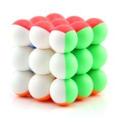 圓球三階減壓魔方益智玩具批發 永駿圓珠三階魔方熒光彩色