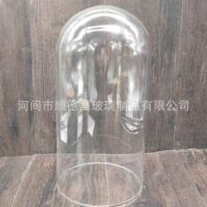 大號12厘米高鵬硅玻璃管 微景觀玻璃罩可定制 玻璃花罩燈罩防塵罩